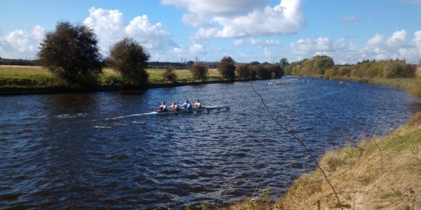 Masters coxless quad, Runcorn Rowing Club、Cheshire, Autumn Head 2015