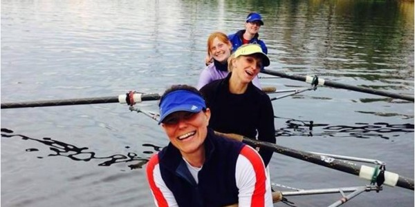 Warrington Rowing Club Ladies Squad training on the River Mersey